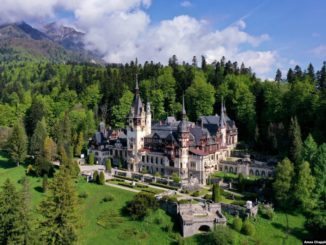 Peles Castle, Sinaia - the Carpathian Mountains - Romania.