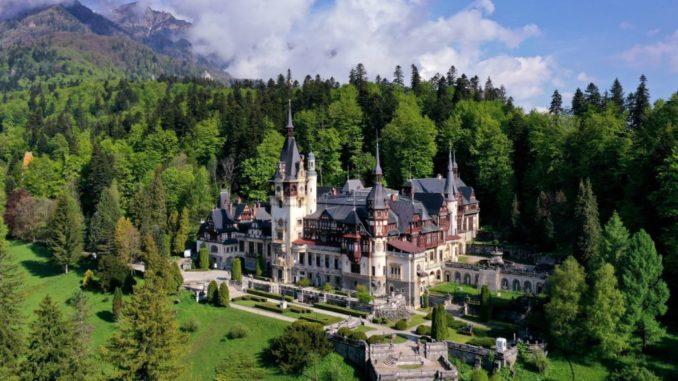 Peles Castle, Sinaia - the Carpathian Mountains - Romania.